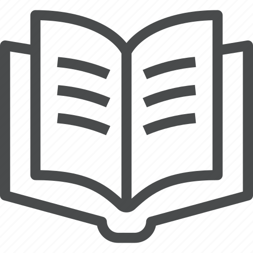 book, education, knowledge, learning, open, read, reading, study icon