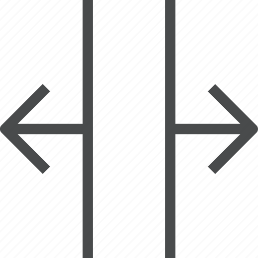 horiztonally, open, wide, width icon