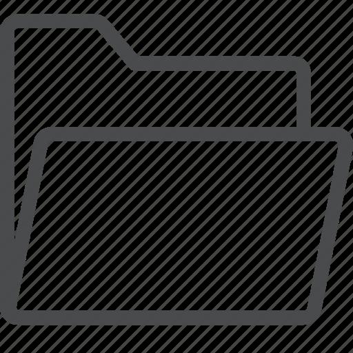 archive, files, folder, folders, open, storage icon