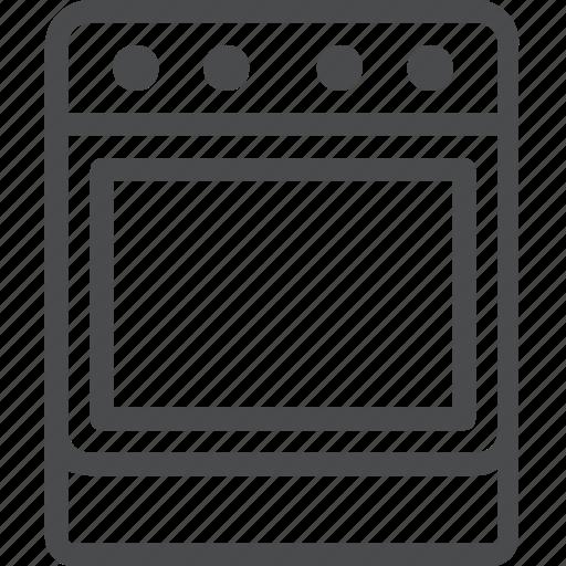 appliance, oven, range, stove icon