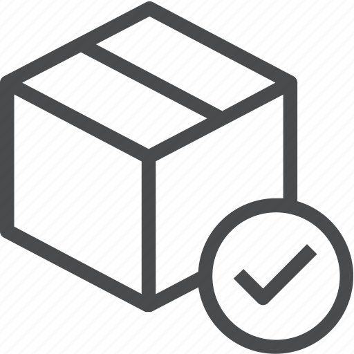 delivered, delivery, ecommerce, package, shipped, shipping, success icon