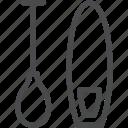 paddle, paddleboard, paddleboarding icon