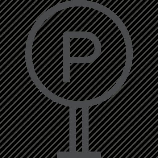 garage, park, parking, sign icon