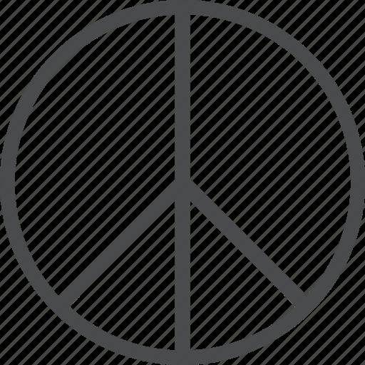 love, peace, sign icon