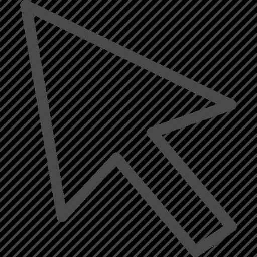 arrow, click, pointer, select icon