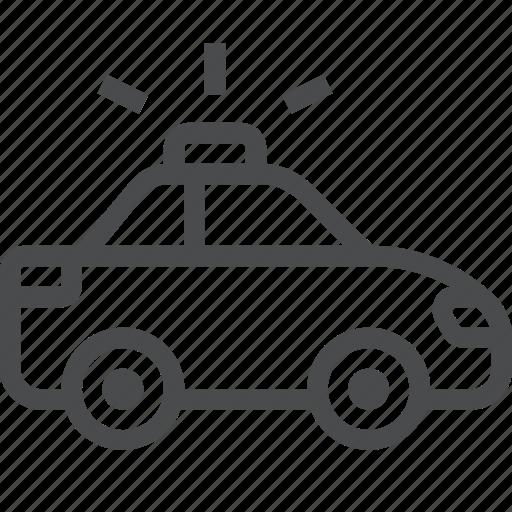 automobile, car, cop, police, vehicle icon