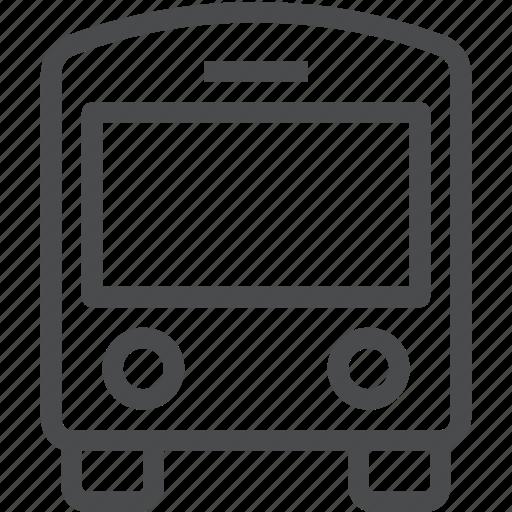 auto, bus, public, transportation icon