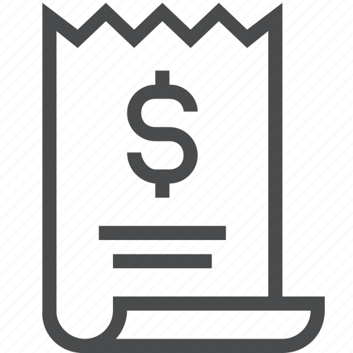 bill, finance, invoice, loan, payment, receipt icon