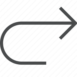 arrow, redo, reload, renew, right icon