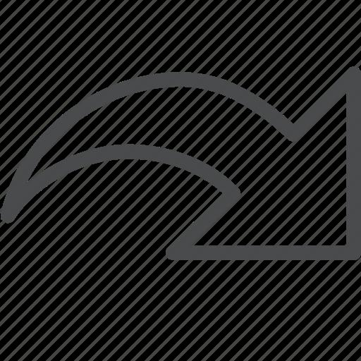 arrow, forward, next, redo icon