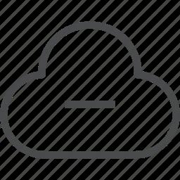 cloud, delete, error, remove icon