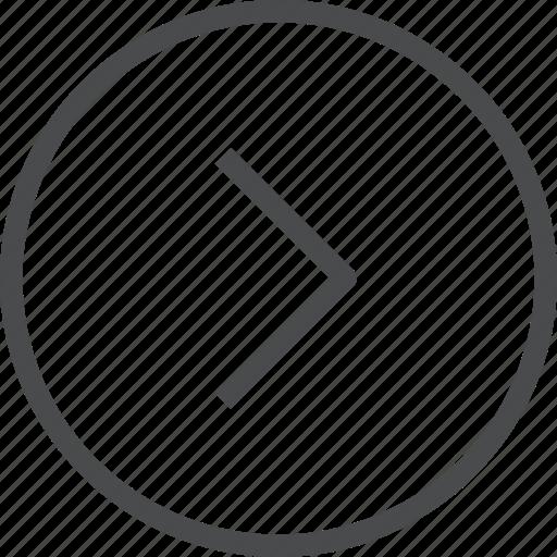 chevron, circle, forward, right icon