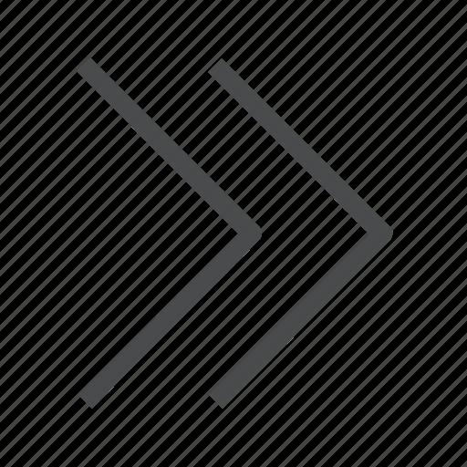 arrow, chevrons, forward, next, right icon