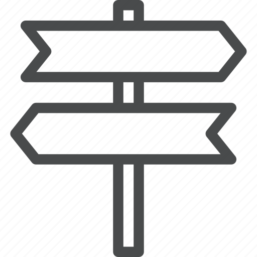 direction, navigation, road, route, sign icon