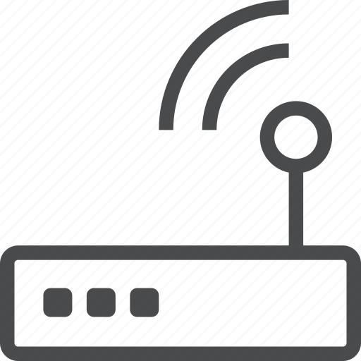 antenna, connection, internet, router icon
