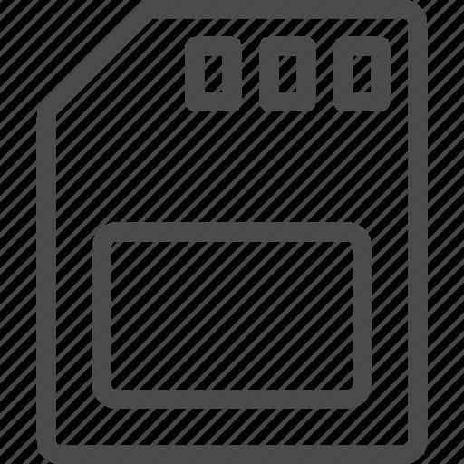 card, disc, media, sd, storage icon