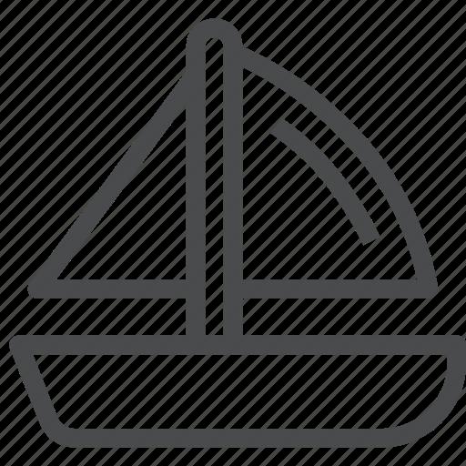 boat, cruise, marine, nautical, sail, sailboat, sailing, sea icon