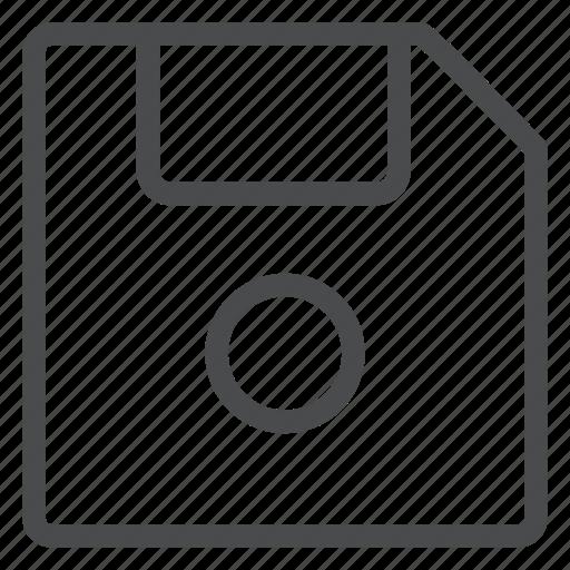 data, disc, disk, floppy, save, storage icon