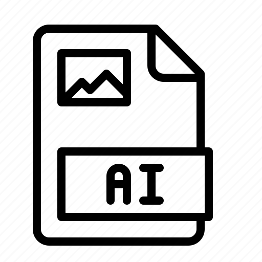 ai, extension, file, illustrator, ios, type, vector icon