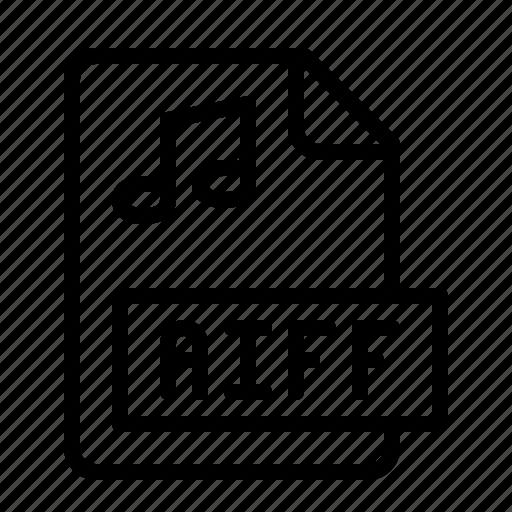 aiff, extension, file, ios, media, music, type icon
