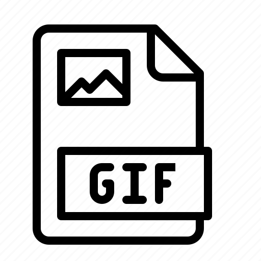 bitmap, extension, file, gif, image, ios, type icon