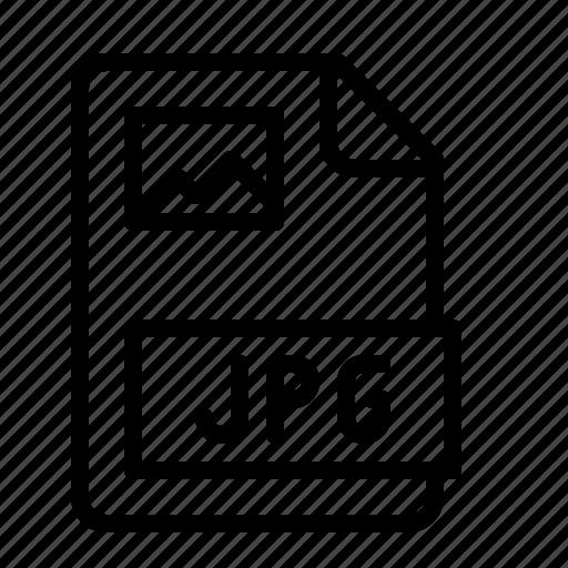 bitmap, extension, file, image, ios, jpg, type icon