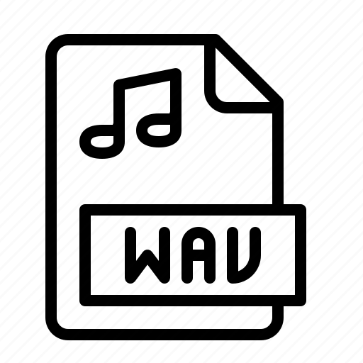 extension, file, ios, media, music, type, wav icon