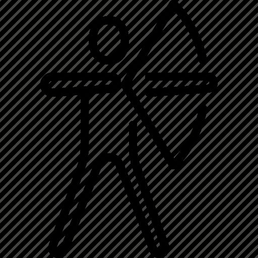 aim, archer, archery, arrow, bow, ios, target icon