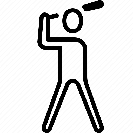 baseball, bat, game, ios, pitch, player, sport icon