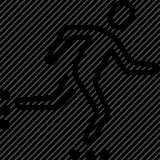 blading, hobby, ios, roller, skate, skating, speed icon