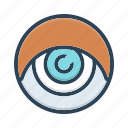 eye, eyeball, glimmers, look, optical, vision icon