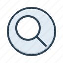 detective, glass, information, interface, magnifier, magnifying, search icon