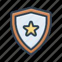 armature, armor, defense, guard, protection, security, shield