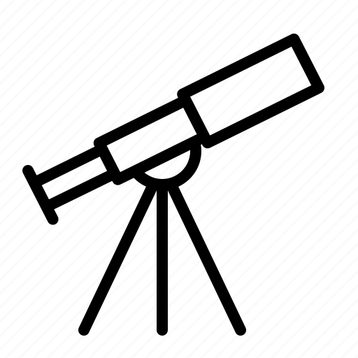 astronomy, explore, ios, search, spyglass, telescope, zoom icon
