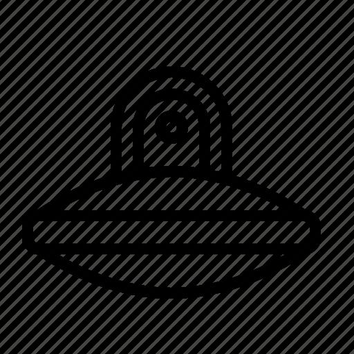 alien, fiction, ios, science, spacecraft, spaceship, ufo icon
