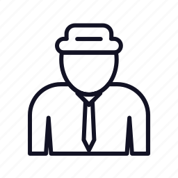 agent, avatar, interface, male, people, person, user icon