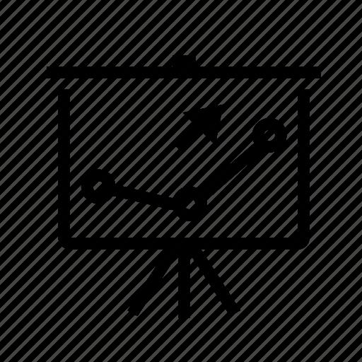 analysis, diagram, display, finance, presentation, screen icon