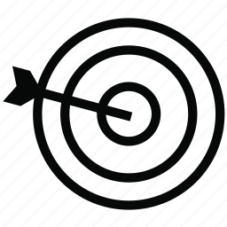 arrow, dart, focus, pointer, target, targeting icon