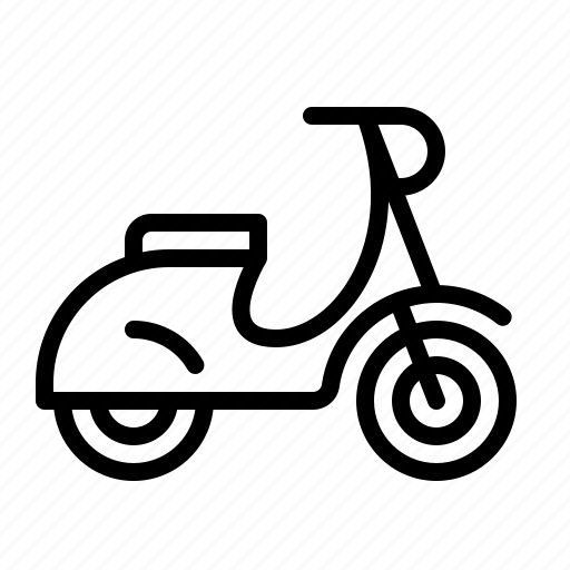 delivery, hipster, ios, moped, motorbike, twowheeler, vespa icon