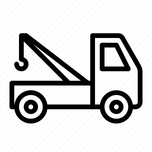 break, car, down, ios, pickup, tow, truck icon