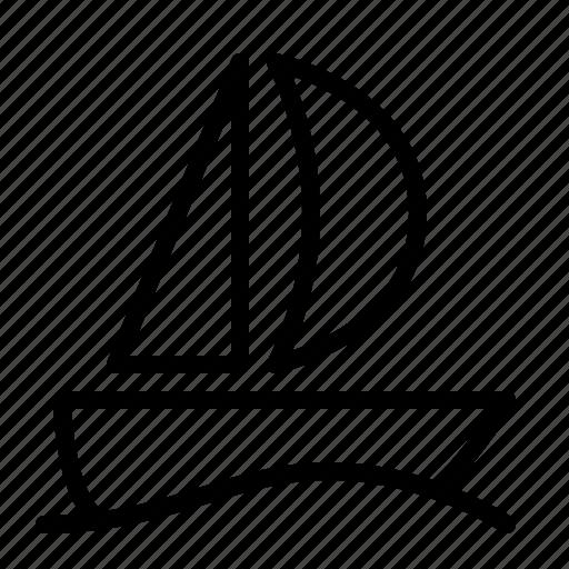 boat, ios, sail, sailboat, sailing, water, yacht icon