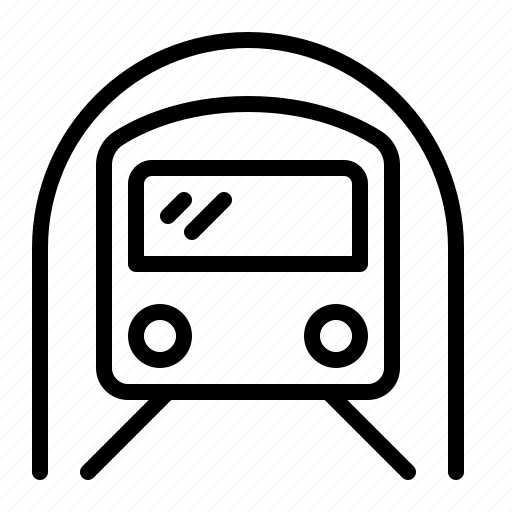 ios, metro, public, subway, transport, tunnel, underground icon