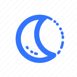 eclipse, forecast, moon, moon phase, weather icon
