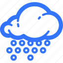 cloud, forecast, rain, rainfall, shower, snow, weather icon