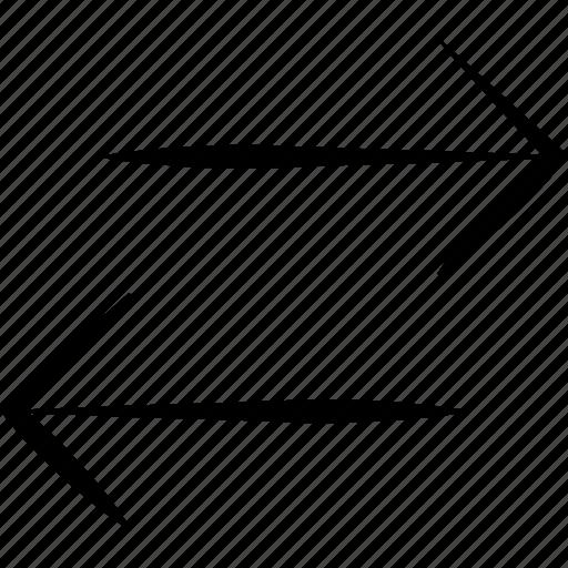arrows, direction, orientation, swap, switch icon