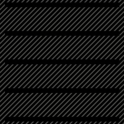 align, format, justify, menu, text, text align, text control icon