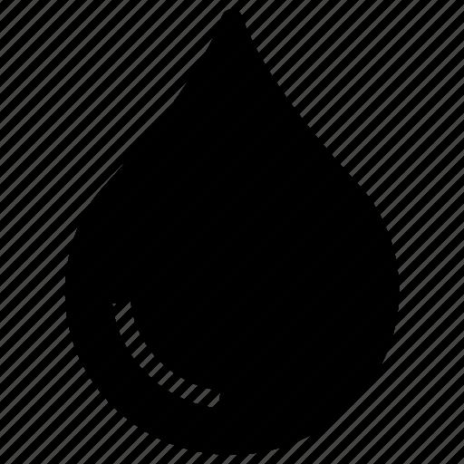 blood, drop, liquid, rain, raindrop, teardrop, water icon icon