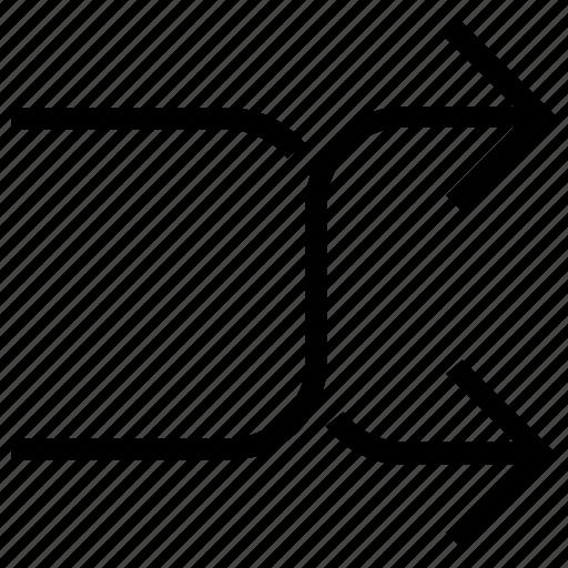 arrow, arrows, direction, forward, next, right icon, sign icon