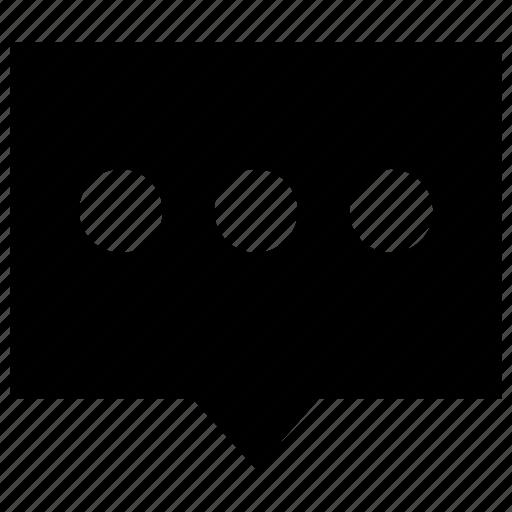 bubble, comment, message, negotiate, speech, talk icon icon