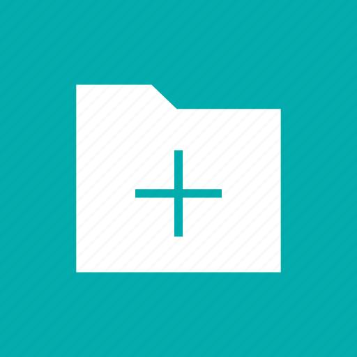 data, file, folder, plus, storage icon